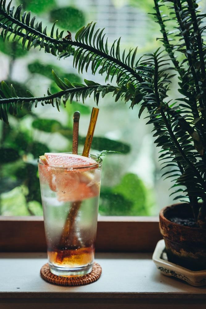 香柚果醋氣泡水/飲料/住牙/咖啡廳/台南/台灣