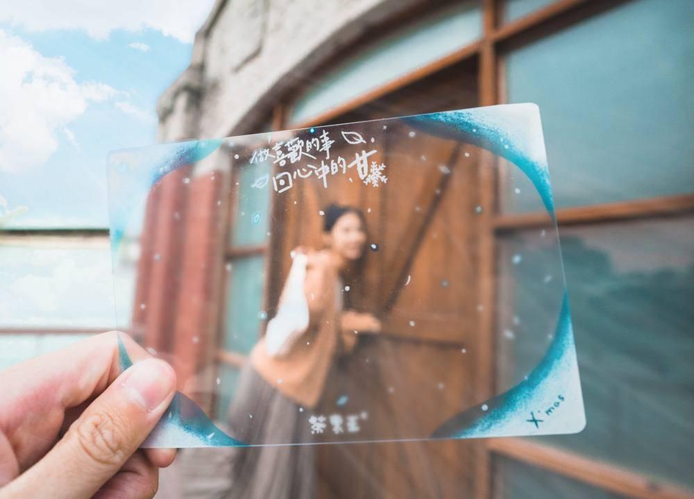 雪花特效/限定版城市明信片/茶裏王/第二市場/台中/台灣