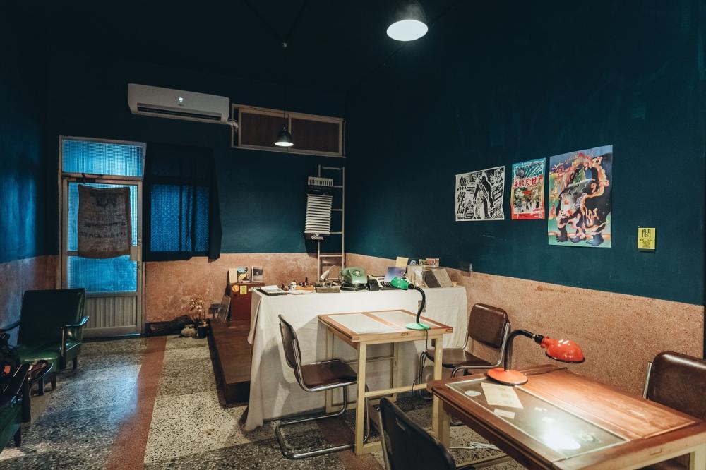 遺留下的樓梯/店內裝潢/海咖啡/歷史建築/咖啡廳/美食/高雄/台灣