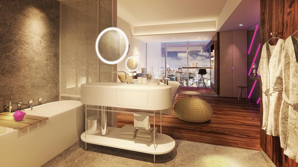 浴室/W OSAKA/飯店/萬豪國際酒店集團/2021開幕/大阪/日本