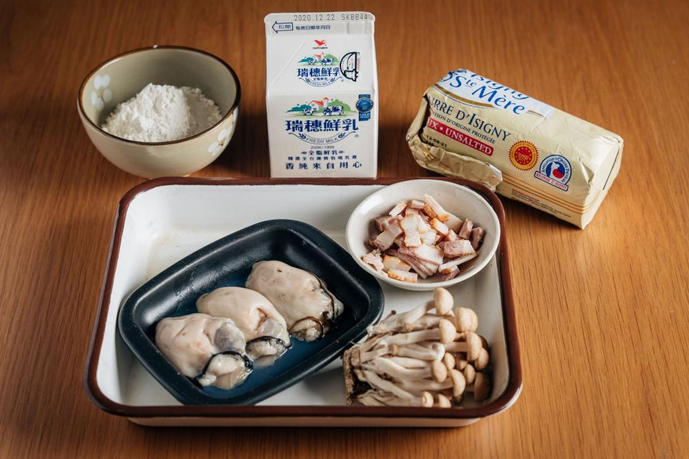 奶汁焗烤牡蠣/下酒菜/美食/台灣