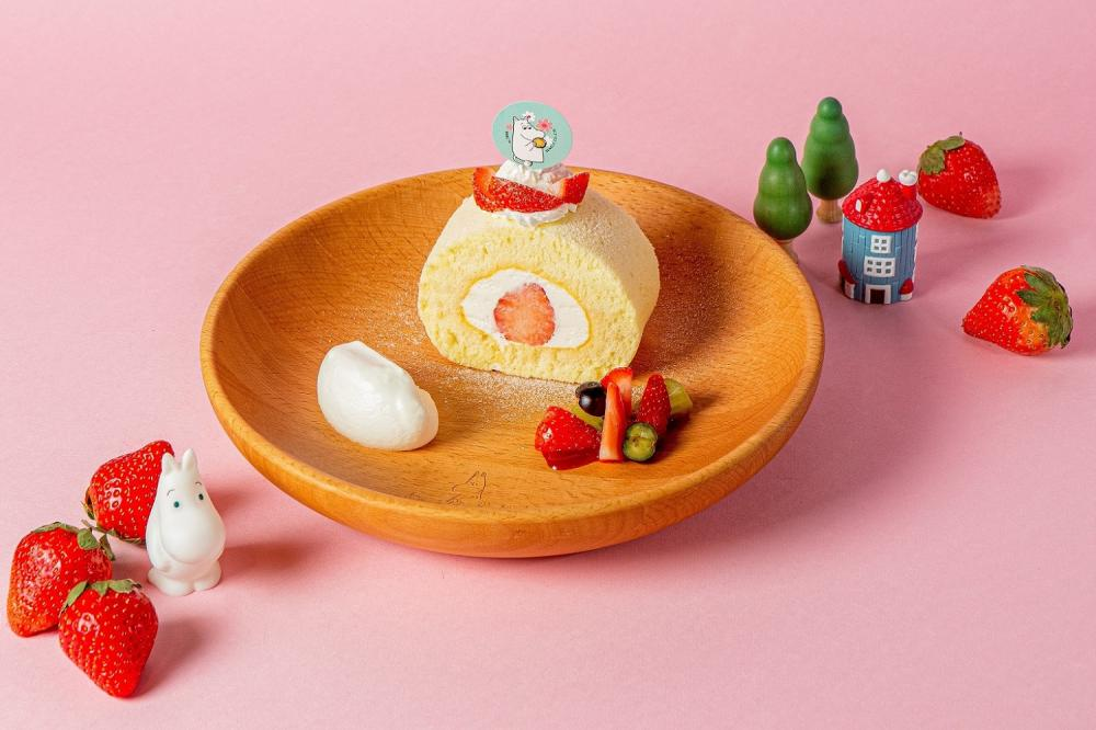 草莓生乳捲/草莓季限定餐點/嚕嚕米主題餐廳/信義區/台北/台灣