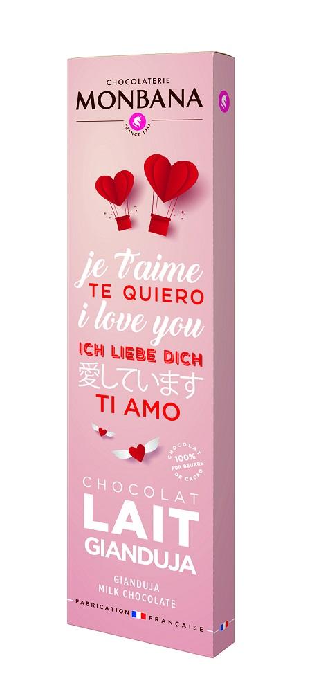 榛果牛奶巧克力棒/情人節巧克力/MONBANA/期間限定/台灣