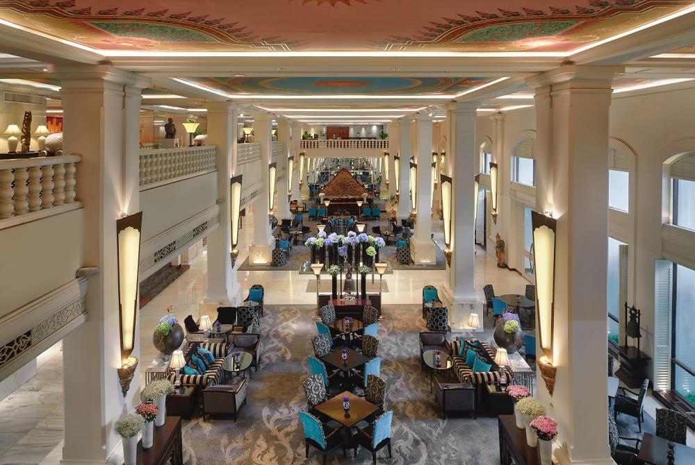 飯店大廳/暹羅安納塔拉酒店/奢華酒店/曼谷/泰國