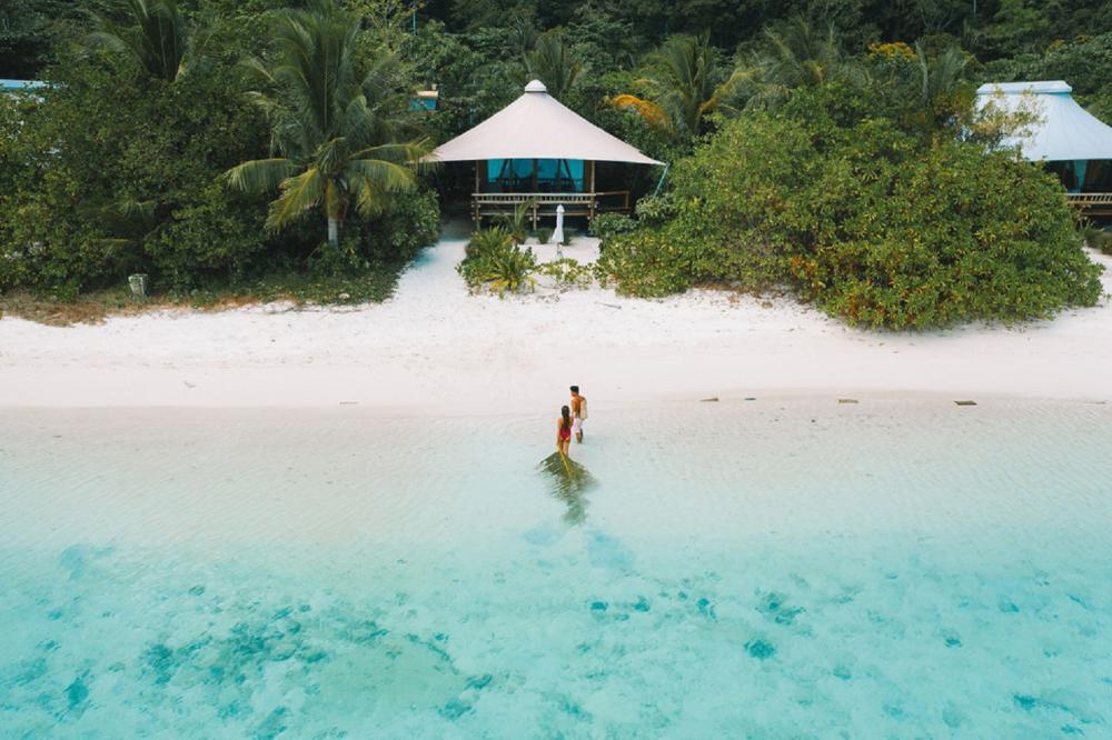海灘/Bawah Reserve/阿南巴斯群島/印度