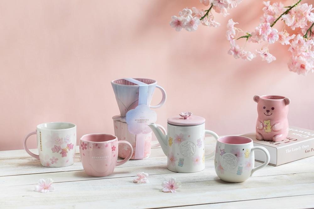 杯袋/杯子/餐具/粉嫩春櫻系列新品/星巴克/台灣