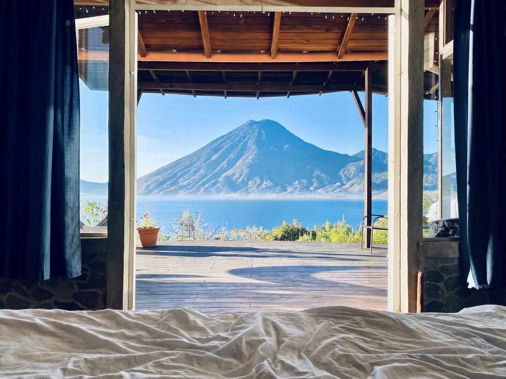 戶外風景/客房/火山湖畔度假小屋/住宿/聖馬科斯拉拉古納/瓜地馬拉