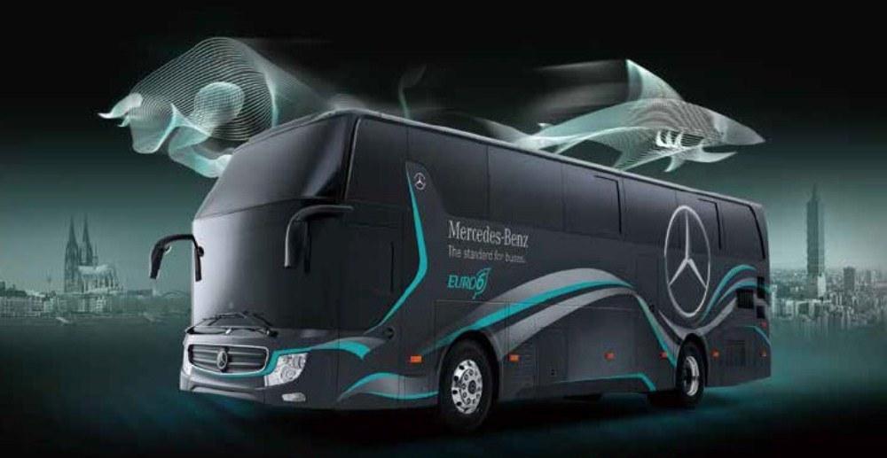 示意圖/Mercedes-Benz OC500 戴姆勒賓士六期大客車/順益集團/台灣
