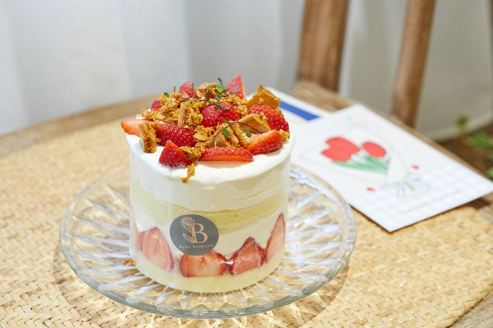 草莓焦香脆糖裸蛋糕/甜點/byby_husband/甜點/美食/桃園/台灣