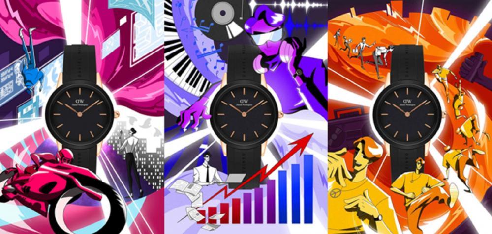 情境照/躍動黑膠腕錶/DANIEL WELLINGTON/ICONIC MOTION系列/台灣