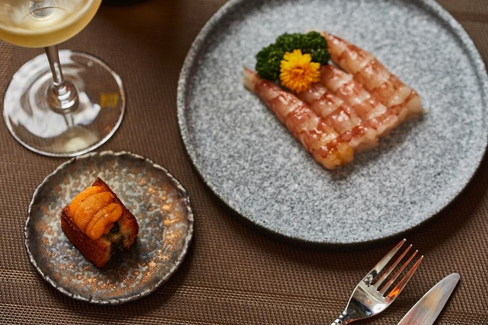 海膽干貝蝦多士/餐點/胡同裡的蘭/日式燒肉/餐廳/美食/台北/台灣