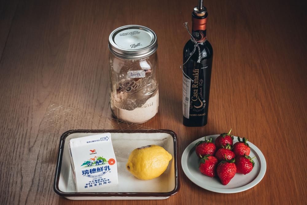 義式奶酪/草莓醬汁/下酒菜/美食/台灣