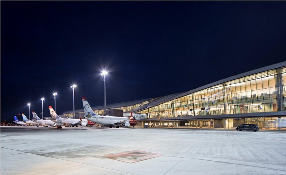 飛機/停機坪/奧斯陸機場/挪威