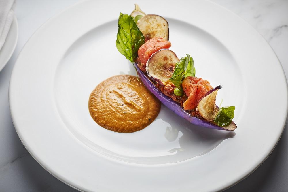 炭烤爐魚/毛豆小黃瓜蕃茄沙拉/Benares/印度料理/美食/倫敦/英國