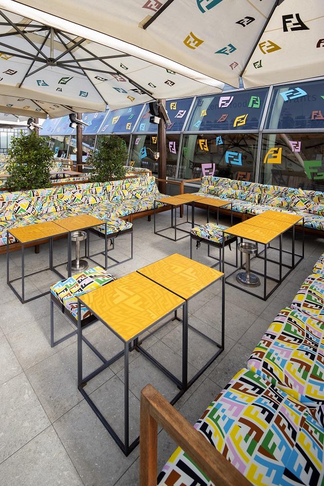座位區/FENDI CAFFE/Rinascente 百貨公司/美食/米蘭/義大利