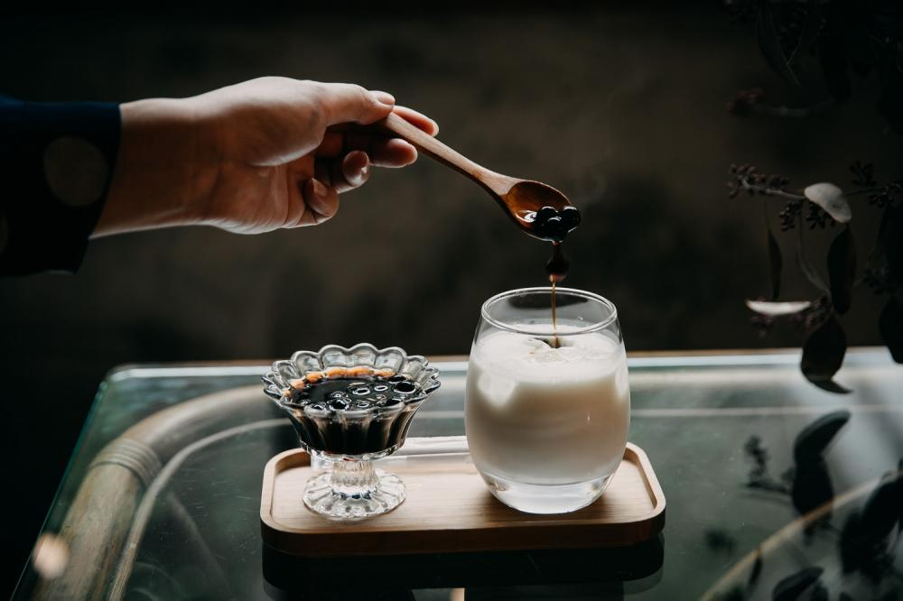 沖繩黑糖珍珠牛乳/梁式甜點/眷村美食/將軍村/新竹/台灣