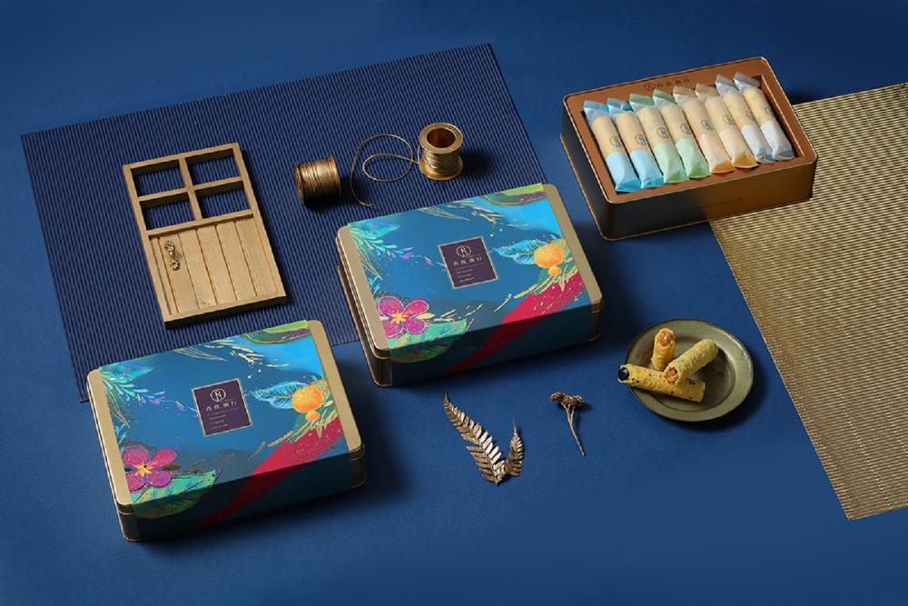 外盒包裝/青鳥旅行/蛋捲禮盒/台灣
