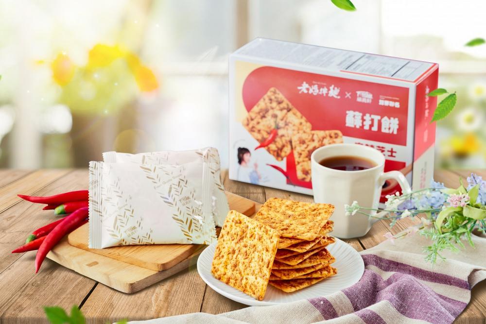 麻辣芝士蘇打餅/老媽拌麵/福義軒/聯名商品/台灣