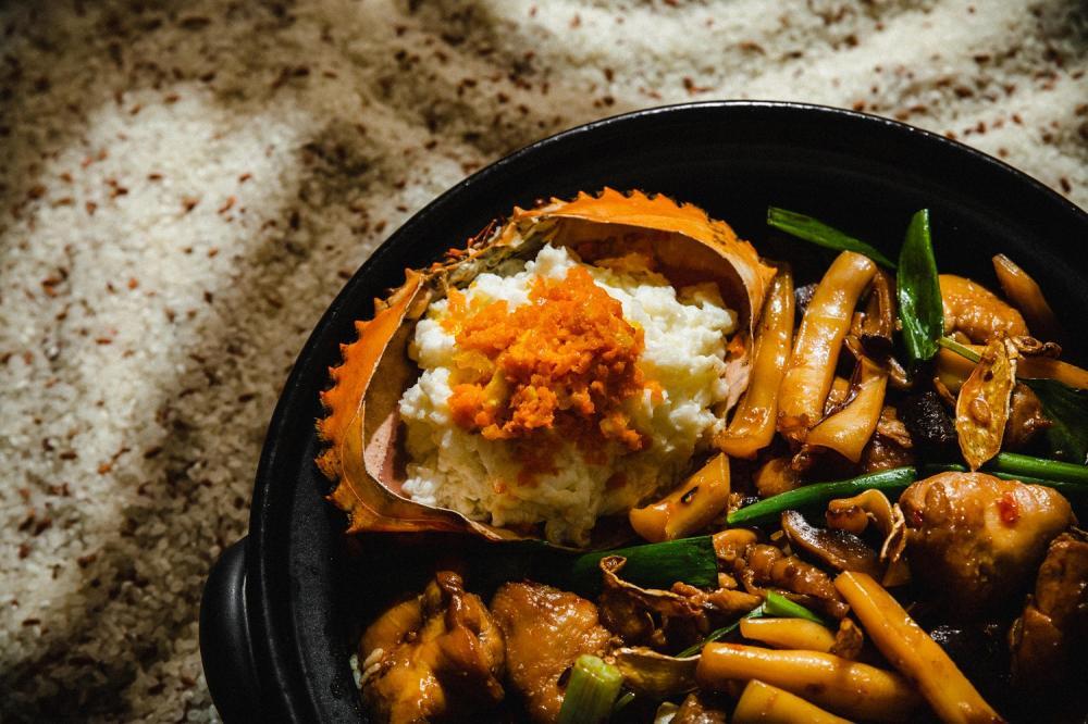鮮蟹海鮮麻油雞米糕/富錦樹台菜香檳大直店/台式料理/台北/台灣