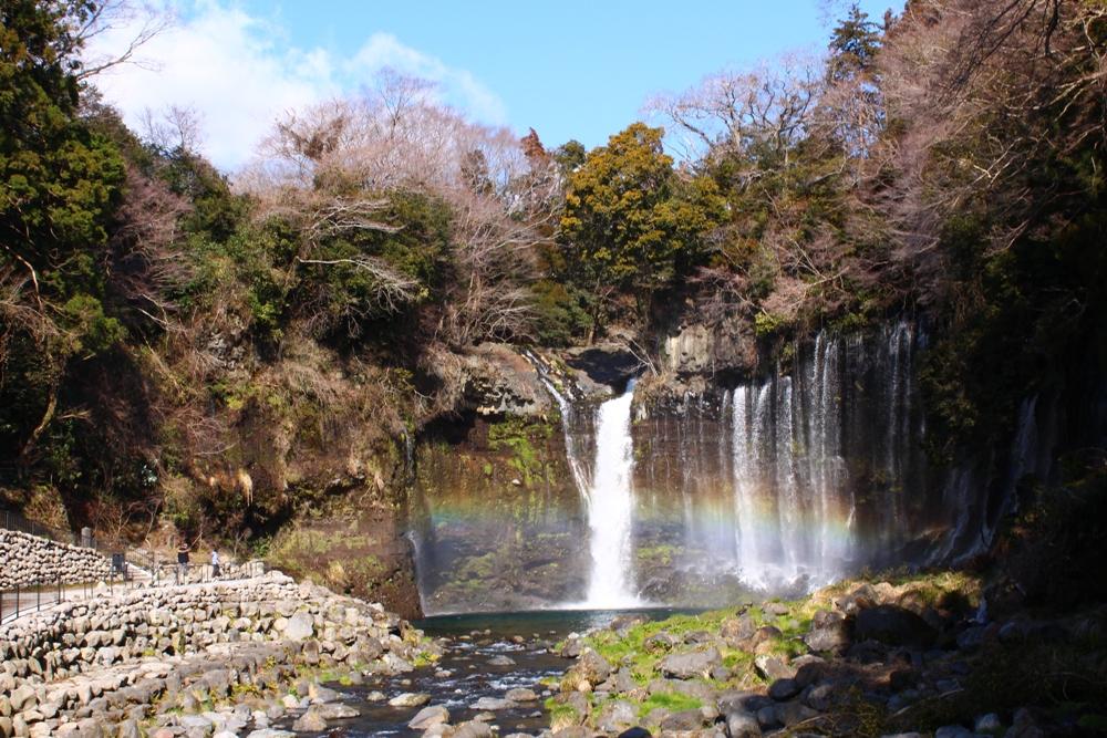 白系瀑布/富士山/Fujisan/日本/Japan