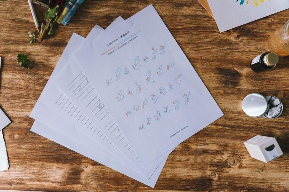 鉛筆字帖/Deborah Tseng Studio/書寫藝術/台灣