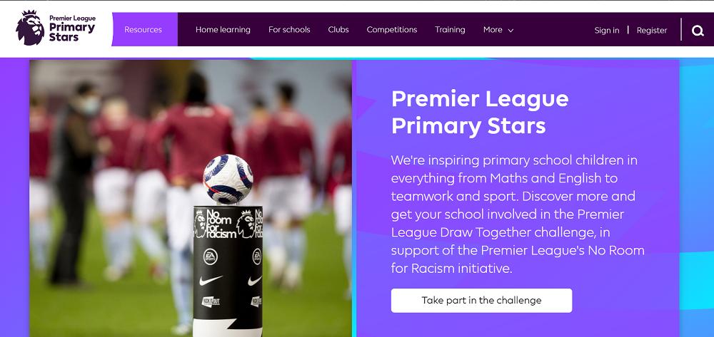 Premier League Primary Stars網站截圖/居家防疫/運動/台灣