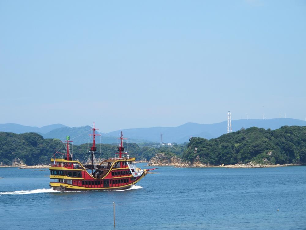 觀光船/海盜船/長崎縣/日本