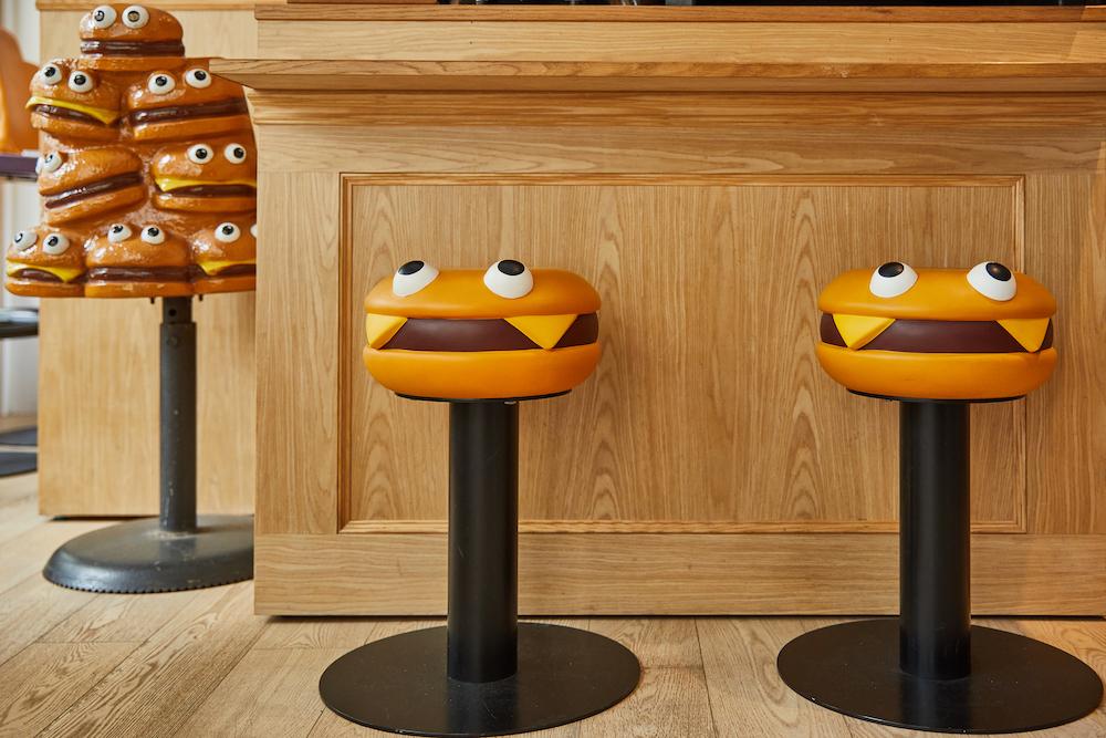 漢堡造型座位區/Chicaca Store/麥當勞玩具店/台北/台灣