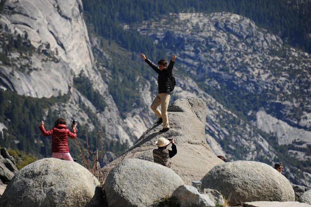 花崗岩巨石/國家公園/加州/美國