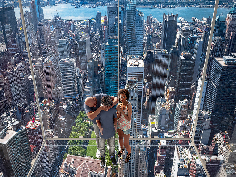 玻璃電梯/范德堡一號大樓/新建築/紐約/美國