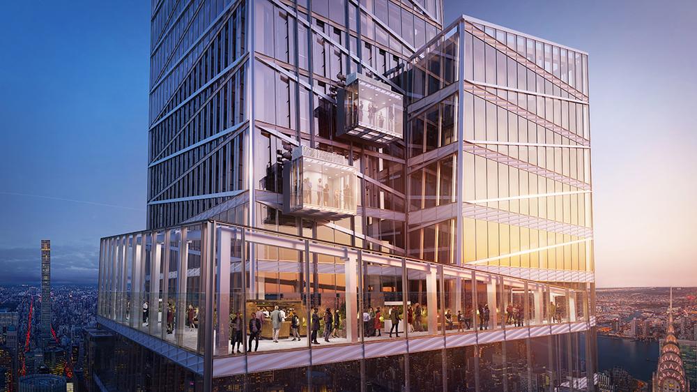 懸浮透明展覽廳/范德堡一號大樓/新建築/紐約/美國