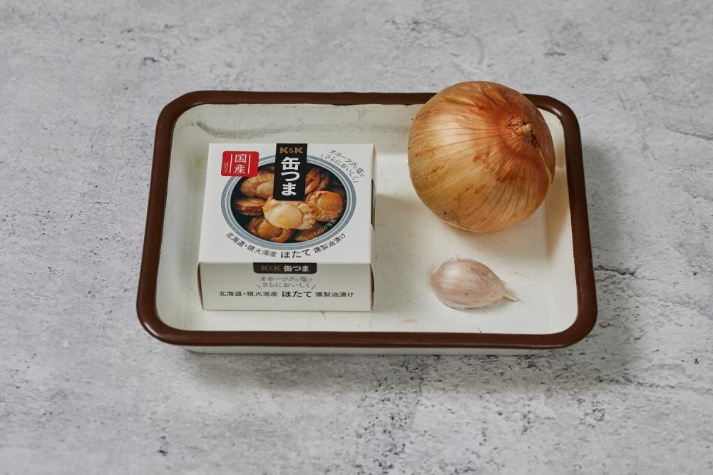 材料/蒜香洋蔥拌罐頭章魚干貝/下酒菜/美食/台灣