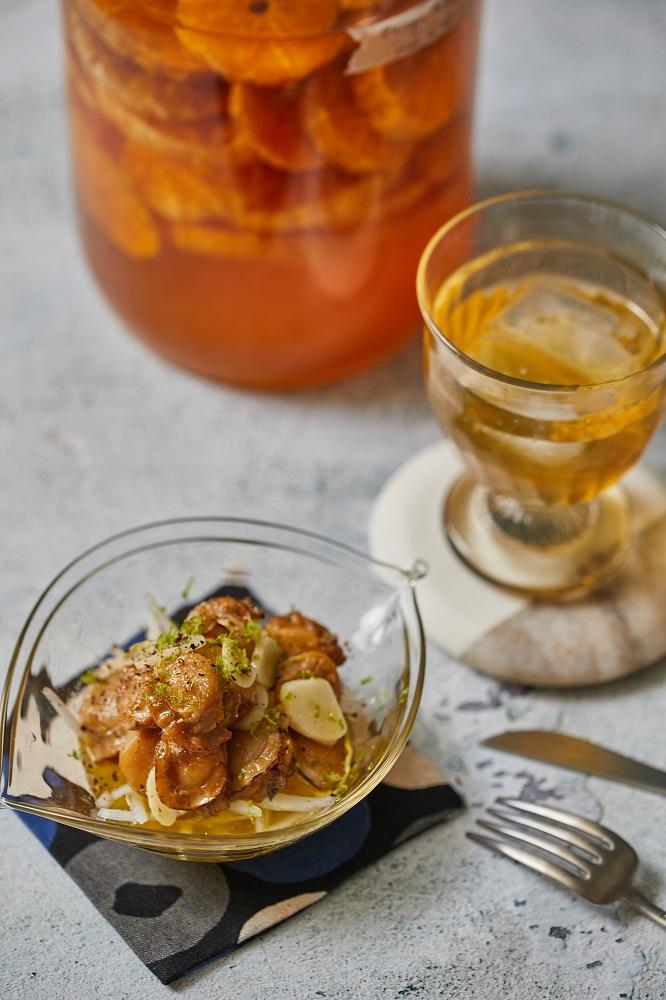 成品/蒜香洋蔥拌罐頭章魚干貝/下酒菜/美食/台灣