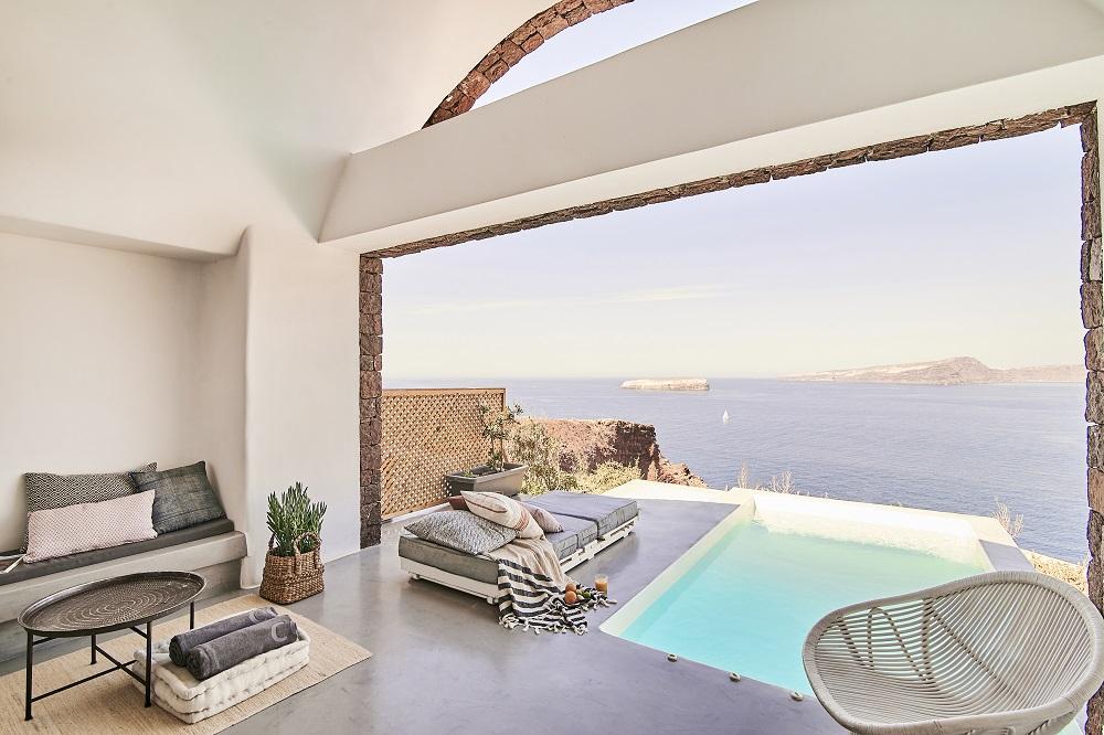 泳池/空間/Nature Eco Residences/旅宿/阿克羅蒂里/希臘/愛琴海