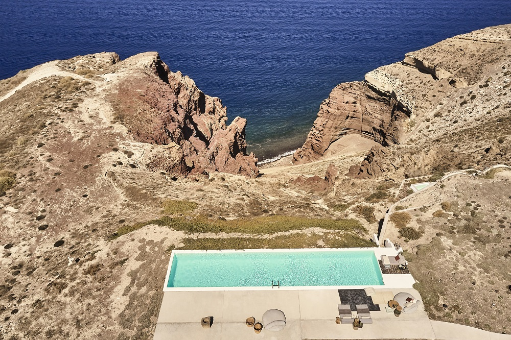 泳池/風景/Nature Eco Residences/旅宿/阿克羅蒂里/希臘/愛琴海