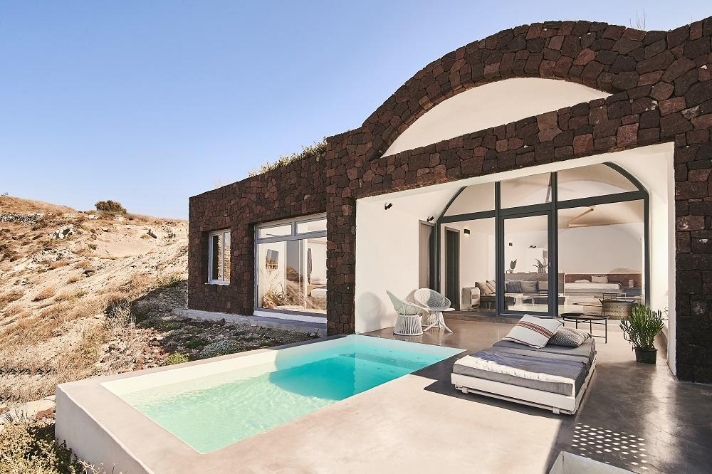 泳池/外觀/Nature Eco Residences/旅宿/阿克羅蒂里/希臘/愛琴海