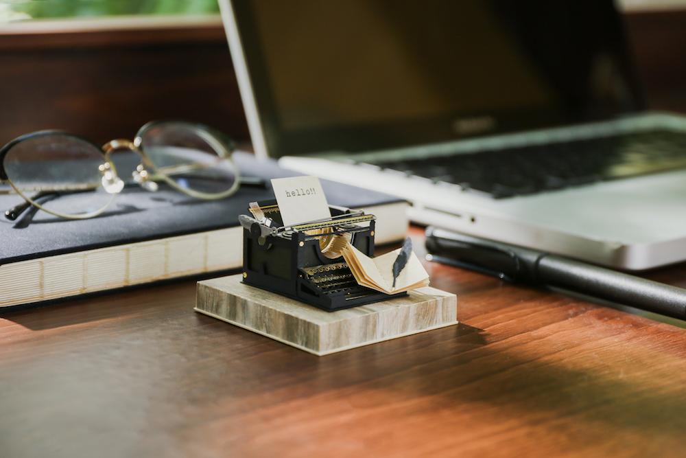 打字機/復古紙風景/紙模型/知音文創