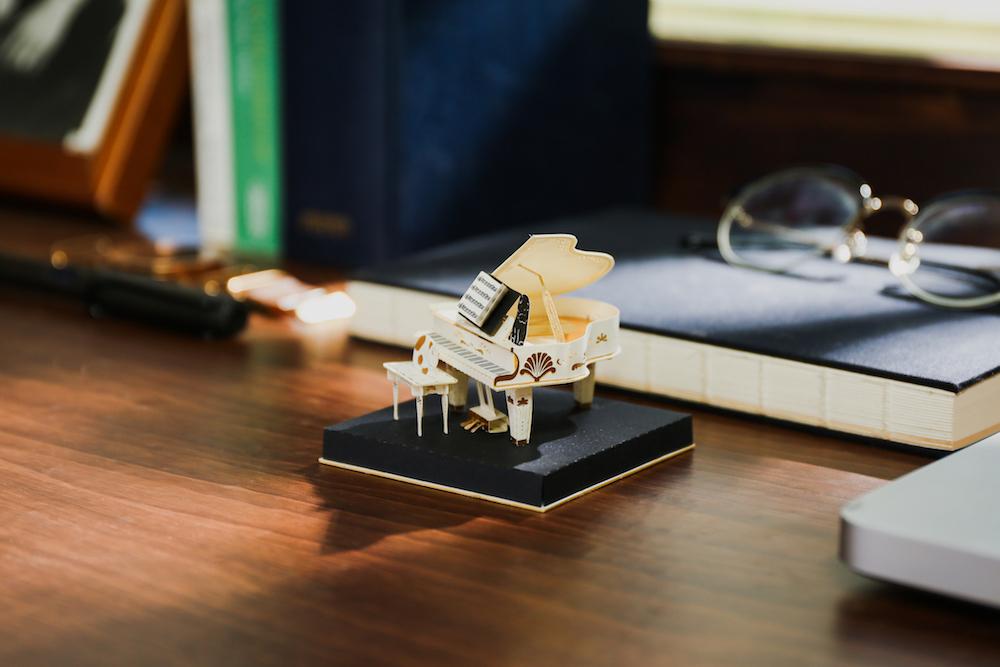 紙鋼琴/復古紙風景/紙模型/知音文創
