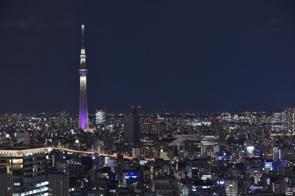 夜景/晴空塔/東京/日本
