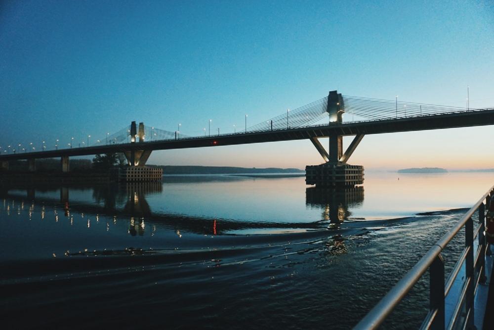 橋/多瑙河/斯洛伐克/歐洲
