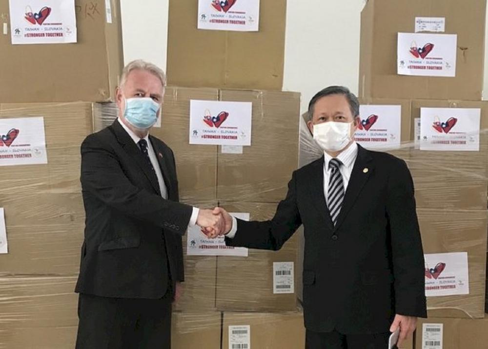 駐斯洛伐克代表曾瑞利/斯洛伐克國會友台小組/中央流行疫情指揮中心/疫情/台灣
