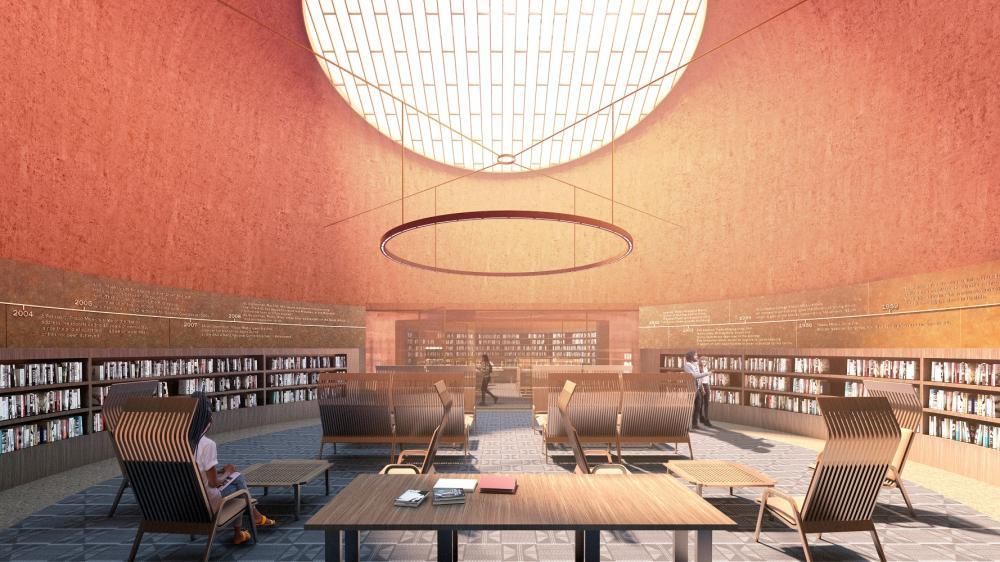 內部/塔博.姆貝基總統圖書館/大衛.阿賈耶/非洲