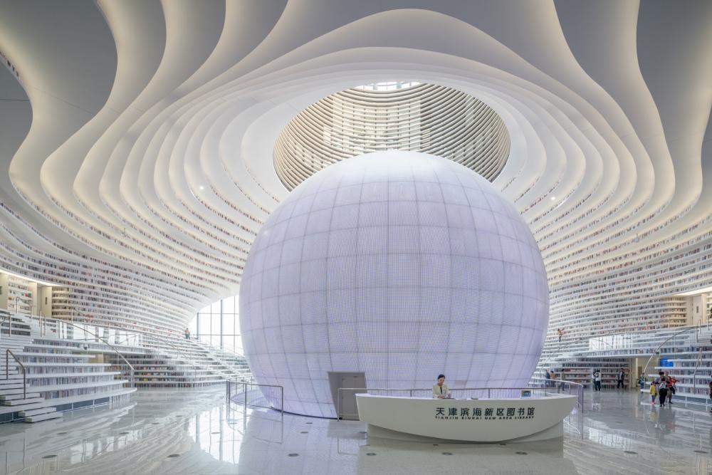 內部/球體建築/天津濱海圖書館/中國
