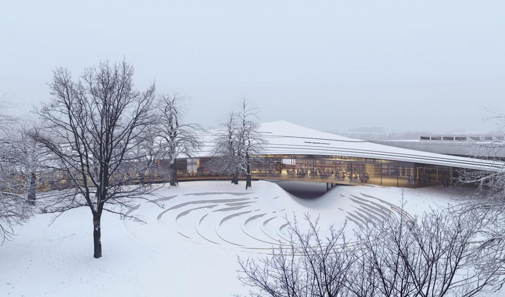 外觀/雪白迴廊/易卜生圖書館/隈研吾/挪威