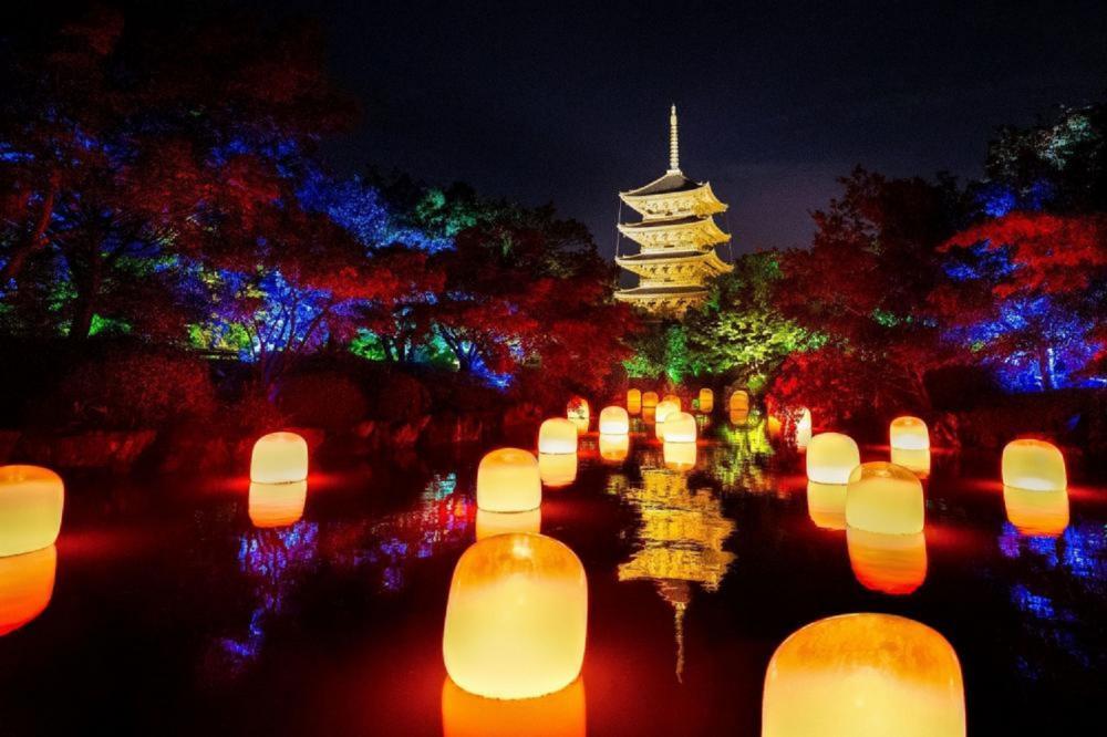 現場/teamLab東寺:光之祭/光影藝術/京都/日本