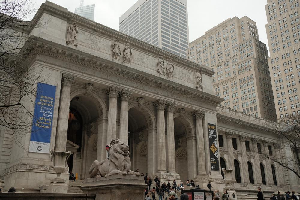外觀/紐約公共圖書館/紐約/美國