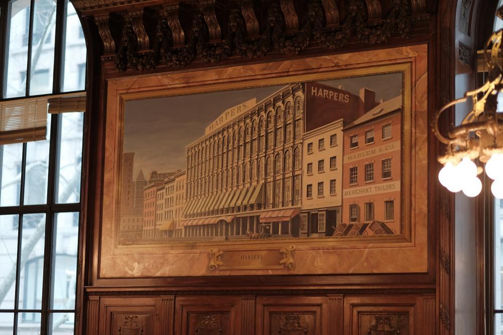 壁畫/紐約公共圖書館/紐約/美國