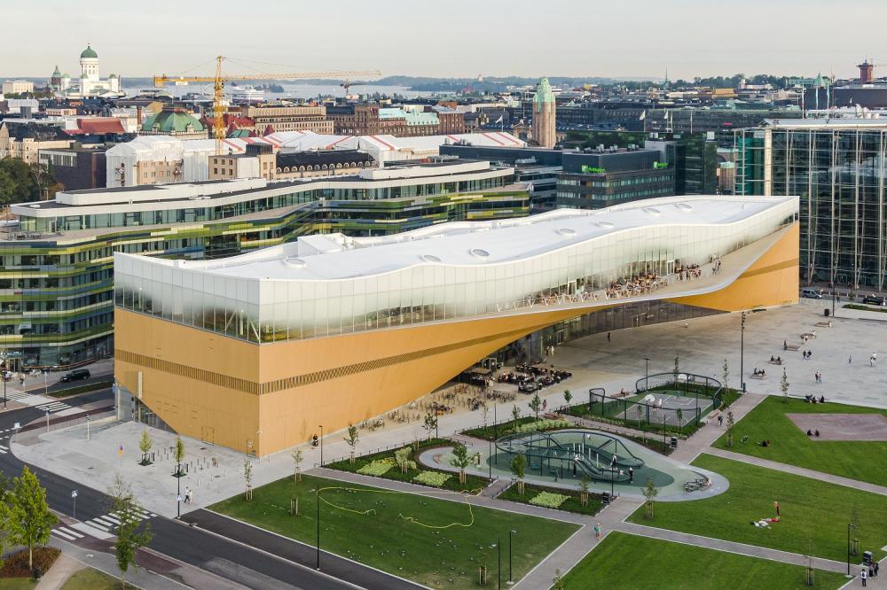 外觀/赫爾辛基頌歌中央圖書館/芬蘭/北歐