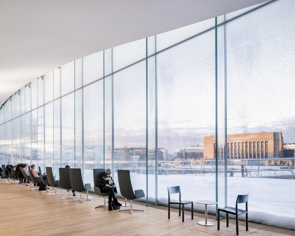 落地窗/赫爾辛基頌歌中央圖書館/芬蘭/北歐