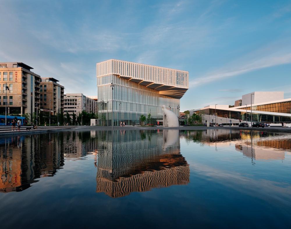 外觀/奧斯陸中央圖書館/挪威/北歐